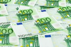 Money background. Euro banknotes, abstract business background Royalty Free Stock Photos