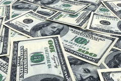 Money background from dollars Stock Image