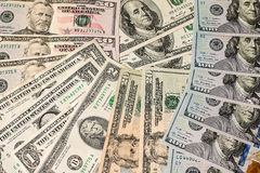 Money background from dollars usa Royalty Free Stock Photos