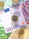 Money background from euro Stock Photo