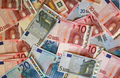 Money background (Euro) Stock Images