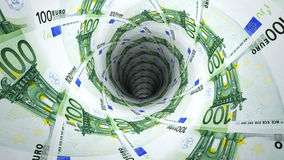 Money background from euro Royalty Free Stock Photography