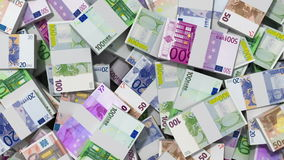 Money background, Euro Stock Footage