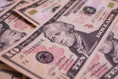 Money background, First Minister of the Treasury Alexander Hamilton Stock Photography