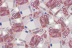 Money background - Five hundred euro bills banknotes Stock Photography
