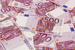 Money background - Five hundred euro bills banknotes Royalty Free Stock Images