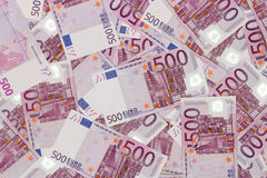 Money background - Five hundred euro bills banknotes Royalty Free Stock Image