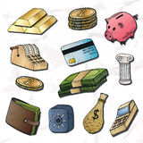 Money background.  hand-drawn elements. Stock Photography