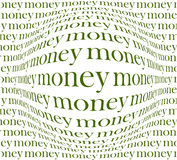 Money background. Inscription on the convex shape, this illustration may be useful as designer work Royalty Free Stock Photography