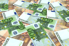 Money background from many Euro Stock Images