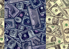 Money background in negative Royalty Free Stock Images