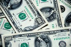 Money background of one hundred dollars Royalty Free Stock Photos