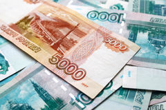 Money background with russian Ruble Royalty Free Stock Image