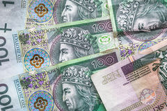 Money background stacked many Polish banknotes Royalty Free Stock Photography