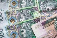 Money background stacked many Polish banknotes Royalty Free Stock Photography