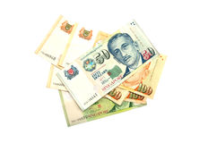Money background from Various nominal Singapore dollars Royalty Free Stock Image