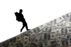 Money backpacker Royalty Free Stock Photo