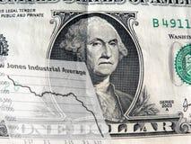Money - bad economy. Dollar bill depicting economic situation Stock Photo