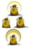 Money bag. Symbols variations for design and decorate Royalty Free Stock Photo