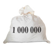 Money bag. Isolated on white background Royalty Free Stock Images