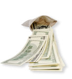Money from bag. Royalty Free Stock Images