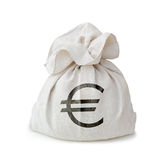 Money bag. Isolated on white background Stock Photography