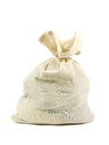 Money Bag. A calaco money bag isolated against a white background Stock Photo