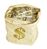 Money bag. Isolated on white background Stock Images
