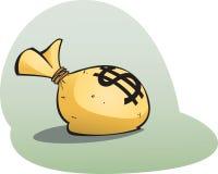 Money bag. Cartoon money bag! every cartoon villains essential accessory Stock Images