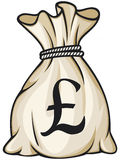 Money bag. With pound sign vector illustration Stock Photos