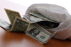 Money Bag Stock Photography