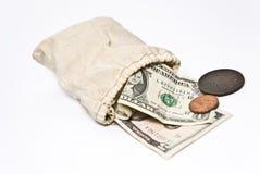 Money Bag. On the white background Stock Photo