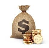 Money bag. Big money bag  on a white  background Royalty Free Stock Image