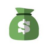 Money bag business finance flat icon. Illustration eps 10 Stock Photography