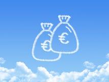 Money bag cloud shaped Stock Photos