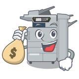 With money bag copier machine in the cartoon shape. Vector illustration vector illustration