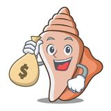With money bag cute shell character cartoon Stock Photo