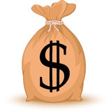 Money Bag with dollar sign Royalty Free Stock Image
