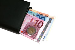 Money bag with euro Stock Photo