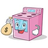With money bag gas stove character cartoon vector illustration