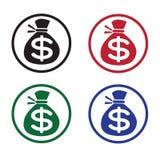 Money bag icon Stock Photography
