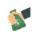 Money bag icon. Money and Financial item. Vector graphic. Money and Financial item concept represented by money bag icon. isolated and flat illustration Stock Photos