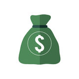 Money bag icon. Money and Financial item. Vector graphic. Money and Financial item concept represented by money bag icon. isolated and flat illustration Royalty Free Stock Photos