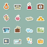 Money bag icons Stock Photography