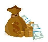 Money bag illustration design graphic Stock Photo