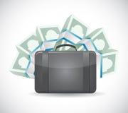 Money bag illustration design Stock Images