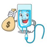 With money bag infussion bottle character cartoon. Vector illustration Stock Images