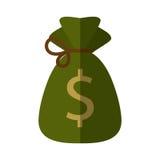 Money bag isolated icon. Vector illustration design Royalty Free Stock Photo