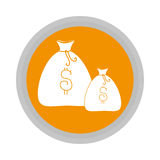 Money bag isolated icon Stock Photos
