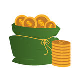 Money bag isolated icon Royalty Free Stock Photo